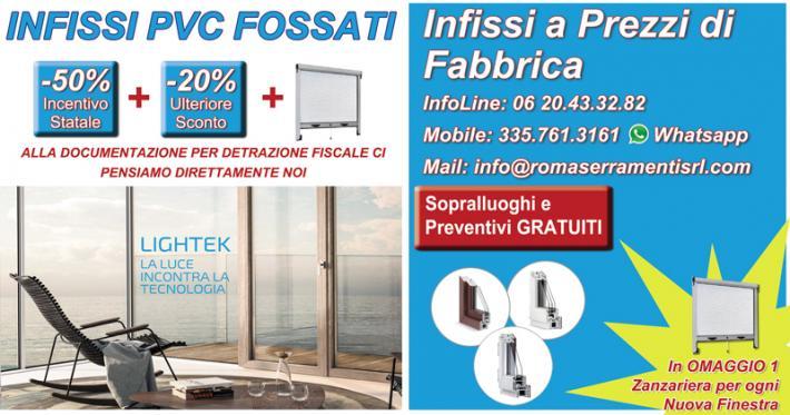 Tel offerta infissi pvc a roma for Offerta finestre pvc